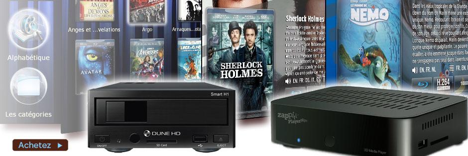 Lecteur universel Dune HD pour l'accès à la filmothèque Riplay et la projection des films