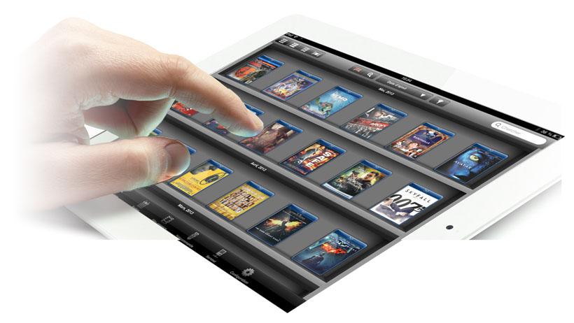 Choisir film dans filmothèque depuis un iPad