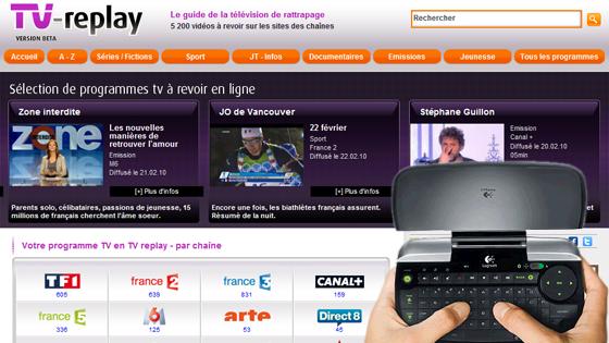 Navigateur Internet sur votre écran de télévision