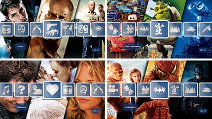 Triez les films par genre : action, dessins animés, romance, fantastique, etc.