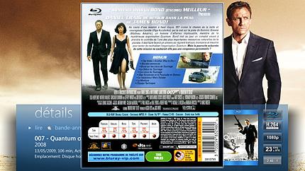 Affichez les informations de vos disques DVD et Blu-ray dématérialisés