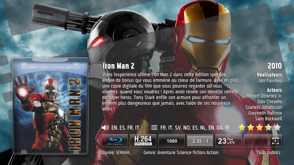 Fiche détaillée des films rippés : pochette du disque DVD ou Blu-ray, résumé du film, description des langues, durée, formats, etc.