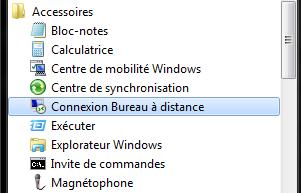 Connexion bureau à distance sous Windows