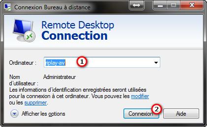 Connexion de bureau à distance sous Windows