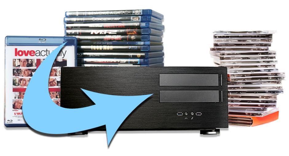 Archivage de disques DVD et Blu-ray dans une filmothèque numérique : Copie et extraction automatique des disques