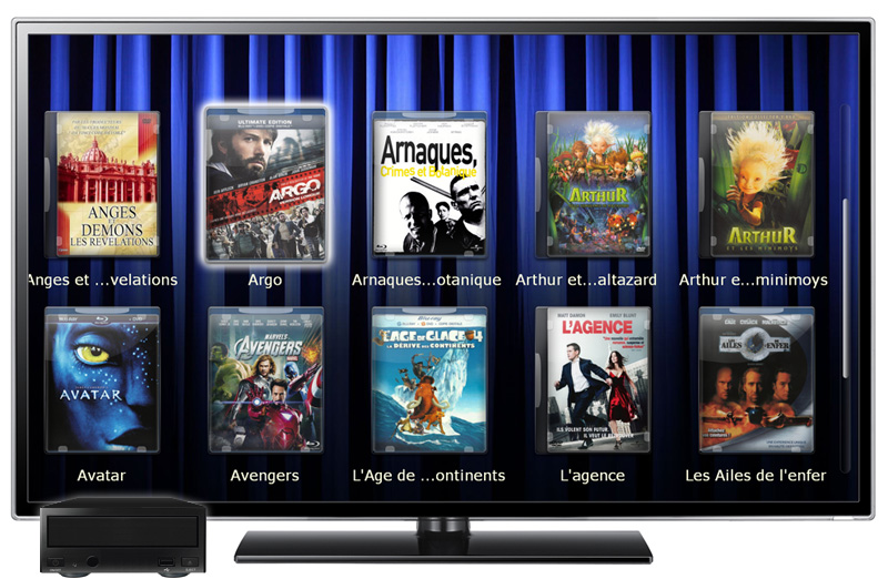 Un lecteur multimédia : Dune / Zappiti, Popcorn Hours, Windows Media Center, XBMC, etc.