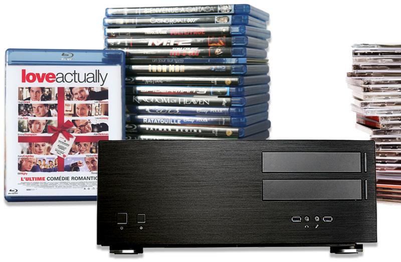 Un serveur pour la dématérialisation automatique de tous vos disques CD / DVD / Blu-ray et centraliser votre audiothèque et filmothèque